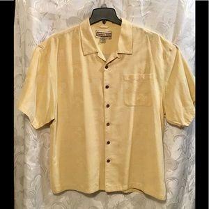 Jamaica Jax Yellow Short Sleeve Button Down Shirt